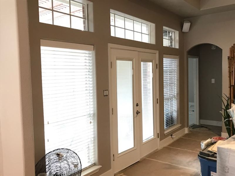 Norman Faux Wood Blinds Installed in Cambry Park in Katy, TX