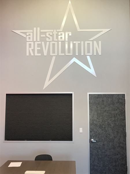 Roller Shades and Cellular Shades for All Star Revolutions Gym in Webster, TX