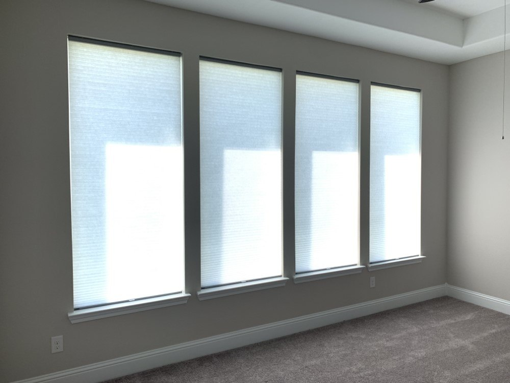 Cordless Cellular Shade Installation in Houston, TX