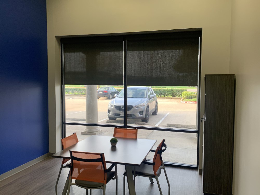 Cordless Roller Shades with Cassette Valance in League City
