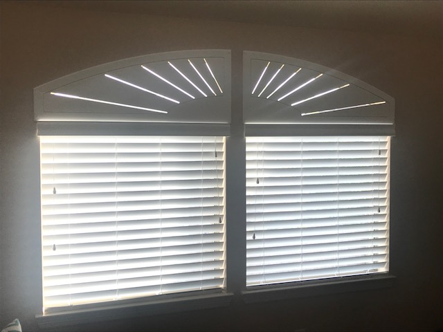 Faux Wood Blinds Installed in League City, TX