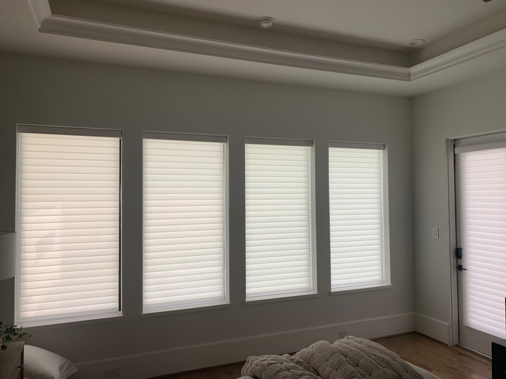 Motorized Comfortex Shangri La Shades in Houston, TX