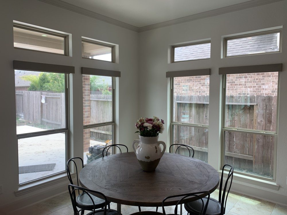 Norman Cordless Roller Shades with Valance in Friendswood, TX