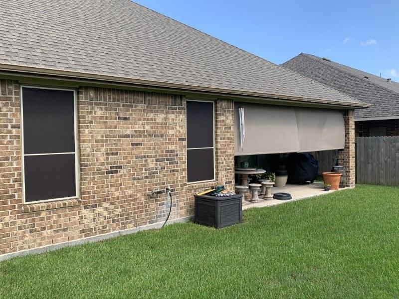 Outdoor Patio Shade and Solar Screen in League City, TX