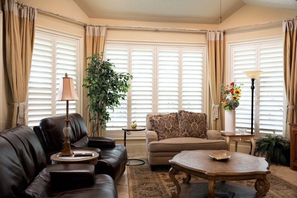 Sunland Polycore shutters in Kingwood, TX