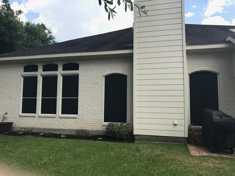 Phifer Suntex Solar Screens Installation in Pearland, TX
