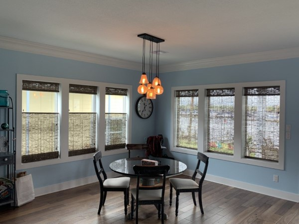 Top Down Bottom Up Woven Wood Shades in Clear Lake Shores, TX
