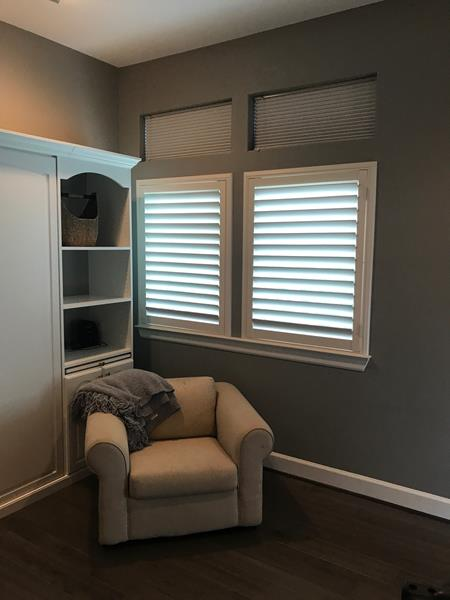 Wood Shutters and Blackout Cellular Shades Installation in Clear Lake Shores, TX